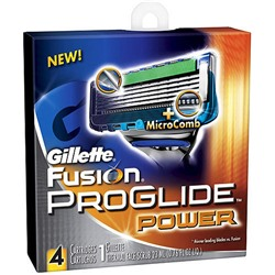 Gillette fusion proglide power 4шт, 5.00