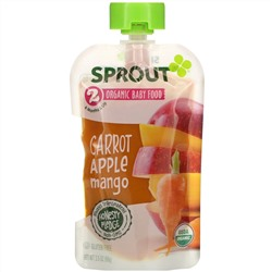 Sprout Organic, Baby Food, 6 Months & Up, Carrot Apple Mango, 3.5 oz (99 g)