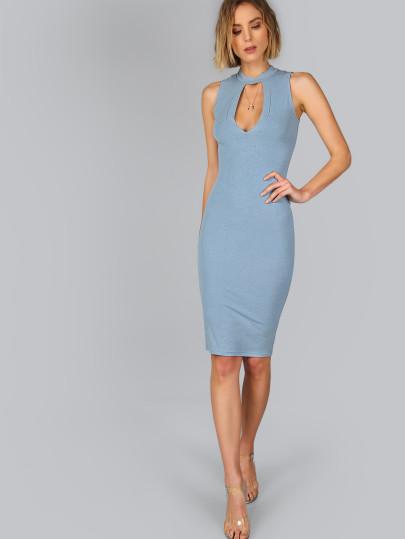 Голубое Платье Карандаш