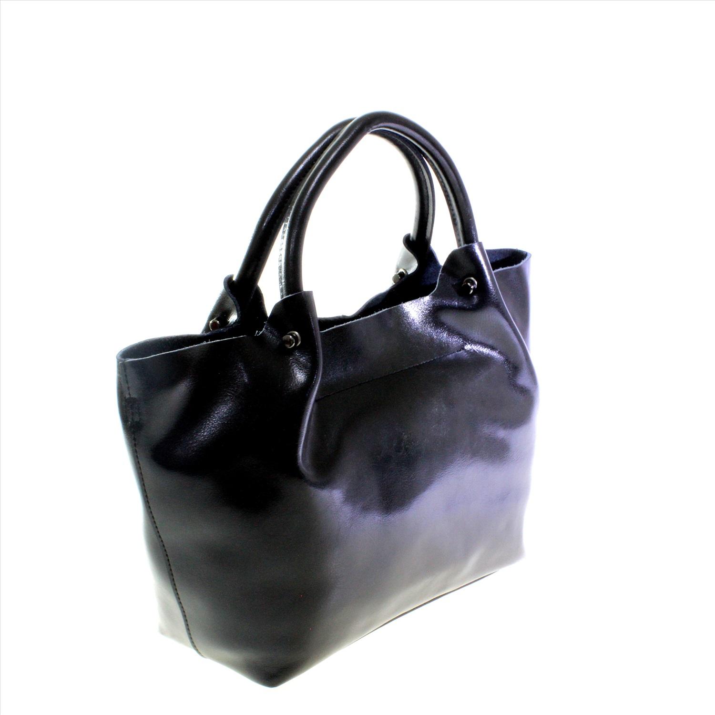 c9d53df79454 Стильная женская сумочка LasVentis из натуральной кожи черного цвета.