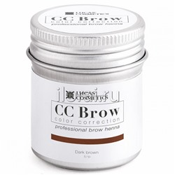 Хна для бровей CC BROW Dark brown LUCAS в баночке 5 гр