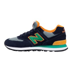 Кроссовки New Balance 574 WL574BEA Blue Yellow Green сетка арт 506-5