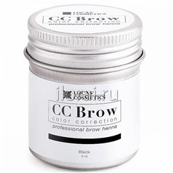 Хна для бровей CC BROW Black LUCAS в баночке 5 гр